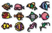 Roylco Tropical Fish Stained Glass Frames - Pack of 24