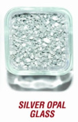 SANDTASTIK PRODUCTS INC. ICE20LBSILVER 9.1kg. BOX OF SILVER OPAL GLASS