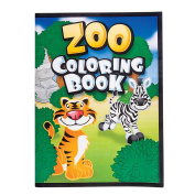 12 Page Zoo Animal Colouring Books