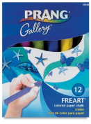 Prang Freart Coloured Paper Chalk, Large, Round Tapered Sticks, 2.5cm x 10cm , 12 Sticks per Box, 12 Assorted Colours
