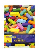 Half Stick Square Artist Pastels, 64 Assorted Colours Set
