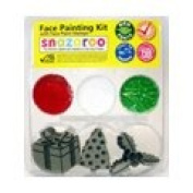 Snazaroo Christmas 2 Stamp Face Painting Kit Candy Cane, Santa Rudolph