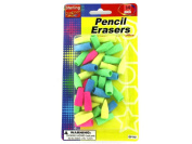 Pencil top erasers - Pack of 48