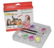 Kustom Body Art Girls Face Paint Set 8 Colour Boxed Set, 3 ml