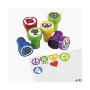 24 pc Peace Sign Stampers [Toy]