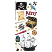 Sandylion Stickers/Borders Packaged, Pirate