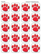 Teacher Created Resources Red Paw Prints Stickers