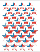 Teacher Created Resources TCR4210 Large Flag Foil Stars Stickers