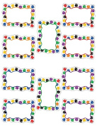 TEACHER CREATED RESOURCES TCR4756 COLORFUL PAW PRINTS BLANK CARD ACCENTS