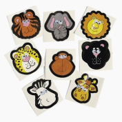72 Zoo Animal Stickers With Wiggle Eyes