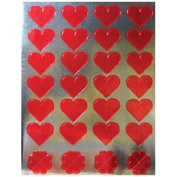 Hygloss 18631 Red Foil Heart Stickers, 20 Sheets, 800 Stickers