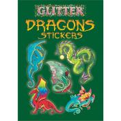 Dover 466734 Dover Publications-Glitter Dragon Stickers