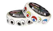 7 Pack CHENILLE KRAFT COMPANY WIGGLE EYES STICKERS ON A ROLL