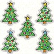 CARSON DELLOSA CD-2938 DAZZLE STICKERS CHRISTMAS TREES 75 ACID AND LIGNIN FREE