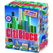 CitiBlocs CTBSC100 100 Piece Cool Colours Precision Cut Building Blocks