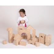 Edushape Big Wood-Like Edublocks Foam Block Construction Toy - 32 pcs