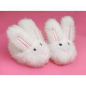 American Girl White Bunny Slippers