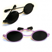 Doll Sunglasses for American Girl Dolls - 46cm Doll Sunglasses 2 pr. Set of Black & Purple Doll Sunglasses, Doll Accessories
