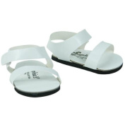 White Doll Sandals, Doll Shoes Fits 46cm American Girl Dolls, Doll White Strap Sandals