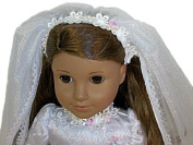 Wedding or Communion Dress Complete Outfit for American Girl 46cm Dolls