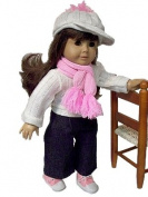 Casual Jean Doll Outfit for American Girl 46cm Dolls