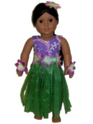 The Queens Treasure AGCHGO Doll Clothes for American Girl 18 Inch Dolls Hula Girl Outfit