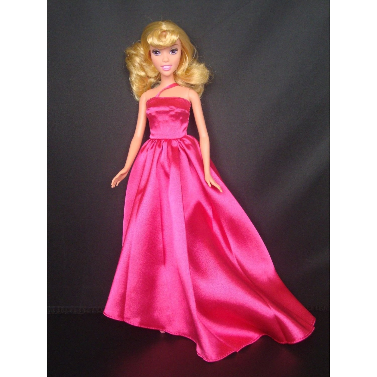 Fuchsia Evening Gown with One Strap Limited Edition Made for the ...