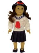 Vintage Sailor Dress Complete Outfit for American Girl 46cm Dolls