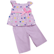 Springfield Collection Pyjama Outfit, Purple Top and Pants