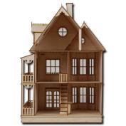 Half Scale Tennyson Laser Cut Dollhouse Kit 1.3cm Scale