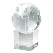 Chass Petite Cube Globe & Base Paperweight - 885-011