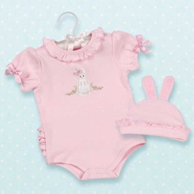 Easter Cottontail Infant Onesie & Hat - 0 to  .