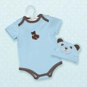Teddy Bear Infant Onesie & Hat by Bearington in Blue, 6-12 Months