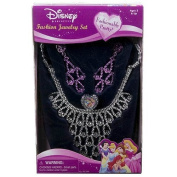 Disney Princess Jewellery Set- Girl's Costume Fashion Necklace, Rings and Earring
