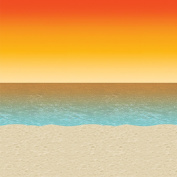 Beistle Company Luau Sunset Backdrop Party Accessory (1 count)