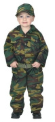 Jr. Camouflage Suit with Cap & Belt, size 2/3, Green