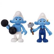 Smurfs Movie Basic Figure Pack Series #2 Hefty and Handy Smurf