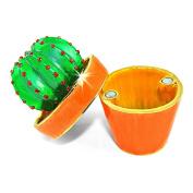 "Objet D'Art Release #39 ""Mi Cacti"" Potted Decorative Cactus Handmade Jeweled Metal & Enamel Trinket Box"