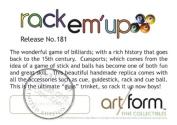 "Objet D'Art Release #181 ""Rack Em' Up"" Billiard Pool Table with Accessories Handmade Metal & Enamel Trinket Box"