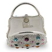 "Objet D'Art Release #280 ""Très Chic"" Ladies Purse Handbag Handmade Jeweled Metal & Enamel Trinket Box"
