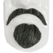 Forum Novelties 125442 Mustache and Goatee- Literate- Brown