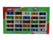 25-Piece Die Cast Metal, Small Car Play Set