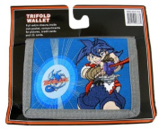 Kids Beyblade Action Trifold Wallet - Blue [Toy]