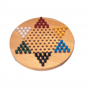 Wood Chinese Checkers Game