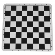 Black Silicone Tournament Chess Mat - 50cm Board with 5.7cm Squares