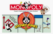1999 Looney Tunes Monopoly Game with 8 Pewter Character Tokens