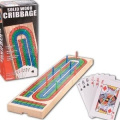 Pressman Toy Corporation 1810-06 Triple Track Folding Cribbage Board With Cards