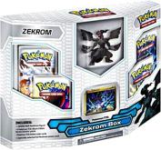 Pokemon Black White Card Game ZEKROM Box 4 Booster Packs, 1 Holo Promo Card 1 Legendary Figure