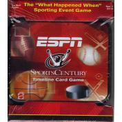 ESPN Sports Century Timeline Card Game in tin