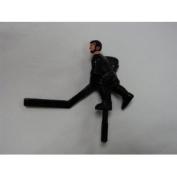 Shelti Black Short Stick Hockey Player